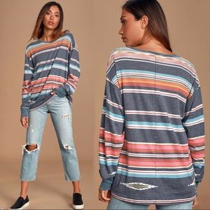 NWT We The Free Arielle Striped Long Sleeve